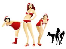 Sexy Santa Girls Stock Photography