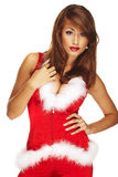 Santa helper. On white background stock image