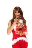 Sexy santa helper Royalty Free Stock Photo