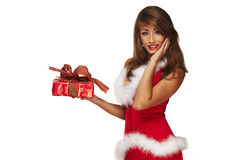 Sexy santa helper Royalty Free Stock Image