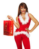 Sexy santa helper Royalty Free Stock Photography