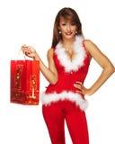 Sexy santa helper Royalty Free Stock Photography