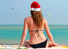 Sexy santa on holidays Royalty Free Stock Photos