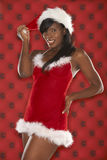Sexy Santa Model In Red Stock Photography
