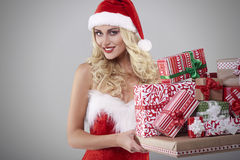 Sexy santa Stock Photography