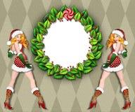 Santa's helper frame Stock Image