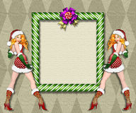 Sexy Santa's helper frame Royalty Free Stock Photo
