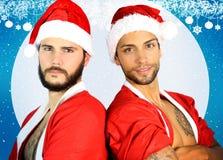 Sexy santa twee Royalty-vrije Stock Foto