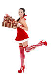 santa woman Royalty Free Stock Image