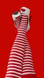 Sexy Santa woman legs. Royalty Free Stock Photo