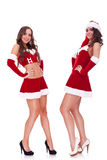 santa women posing Royalty Free Stock Image
