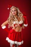 Sexy santahelper Royalty-vrije Stock Foto's