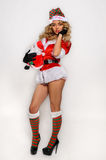 Sexy Santas Helper girl great image for creating Holiday Greeting postcards Stock Image