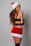 Sexy Santas Helper girl Stock Photo