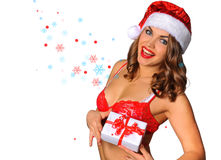 Santas Helper girl Stock Photos