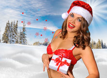 Sexy Santas Helper girl Stock Images