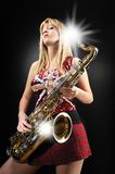 saxy girl Stock Photography