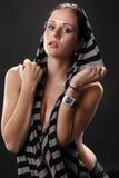 Sexy scarf Royalty Free Stock Photo