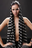 Sexy scarf Royalty Free Stock Images