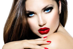 Sexy Schönheits-Mädchen Lizenzfreies Stockfoto