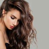 Sexy Schönheits-Mode-Modell mit perfekter Frisur lizenzfreies stockfoto