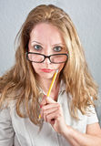 Sexy  school teacher Royalty Free Stock Photo