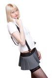 Sexy schoolgirl Stock Image