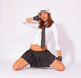 Sexy schoolgirl Stock Photos