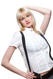 Sexy schoolgirl portrait Stock Image