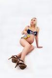 Sexy schwangere Frau Lizenzfreies Stockbild