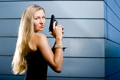 Sexy secret agent Stock Photography