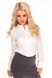 Sexy secretaresse Stock Foto's
