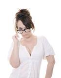 Sexy secretaresse Stock Fotografie