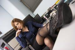 Sexy Secretaresse Royalty-vrije Stock Foto