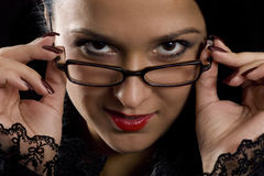 Sexy secretaressemening Stock Afbeelding
