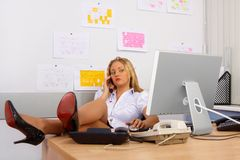 Sexy Secretary Royalty Free Stock Photos