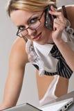 Sexy secretary laptop Stock Photography
