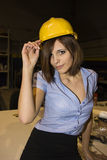 Sexy Secretary. Very beautiful young model posing as a sexy secretary Stock Photography