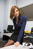 Sexy Secretary. Very beautiful young model posing as a sexy secretary Stock Images
