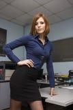 Sexy Secretary. Very beautiful young model posing as a sexy secretary Royalty Free Stock Photography