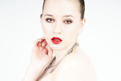 Sexy and seducing woman portrait Royalty Free Stock Photos