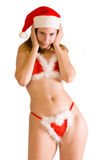 Sexy seductive christmas fairi Stock Photos