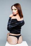 Sexy seductive female fashion model Royalty Free Stock Photography