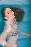 Sexy seductive woman in water. Royalty Free Stock Photos