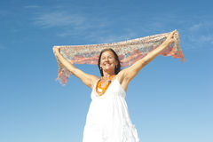 senior woman successful pose Royalty Free Stock Photography