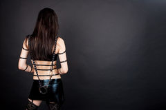 Sexy sensual back of gothic emo Stock Photos
