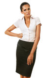 Sexy serious businesswoman Stock Photos