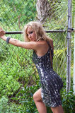 Sexy shaply vrouw Stock Fotografie