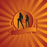 Sexy shield red Royalty Free Stock Photos