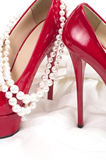 Sexy shoes with beads Royalty Free Stock Photo